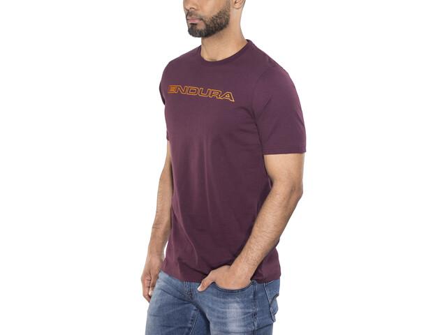Endura One Clan Carbon T-Shirt Heren, mulberry